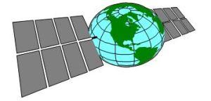 World with solar panels