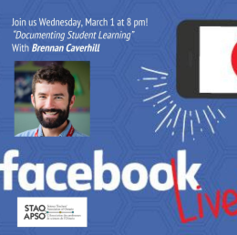 Documenting student learning – STAO FacebookLive!