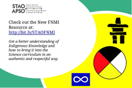 New FNMI Resource from STAO