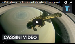 NASA released its first incredible video of our closest look at Saturnyet