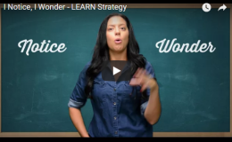 I Notice, I Wonder – LEARN Strategy