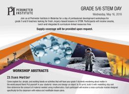 Perimeter Institute Grade 5/6 STEMDay