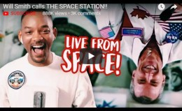 Will Smith calls THE SPACESTATION!!