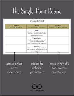 Meet the #SinglePointRubric | Cult of Pedagogy – submitted by Sandra Gambarotto