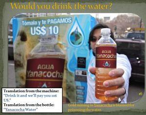 Peruvian water